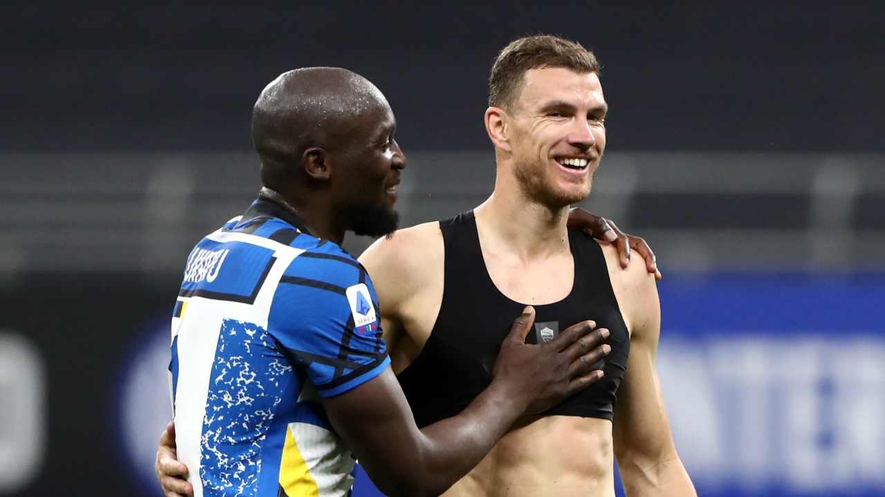 Lukaku Dzeko Inter