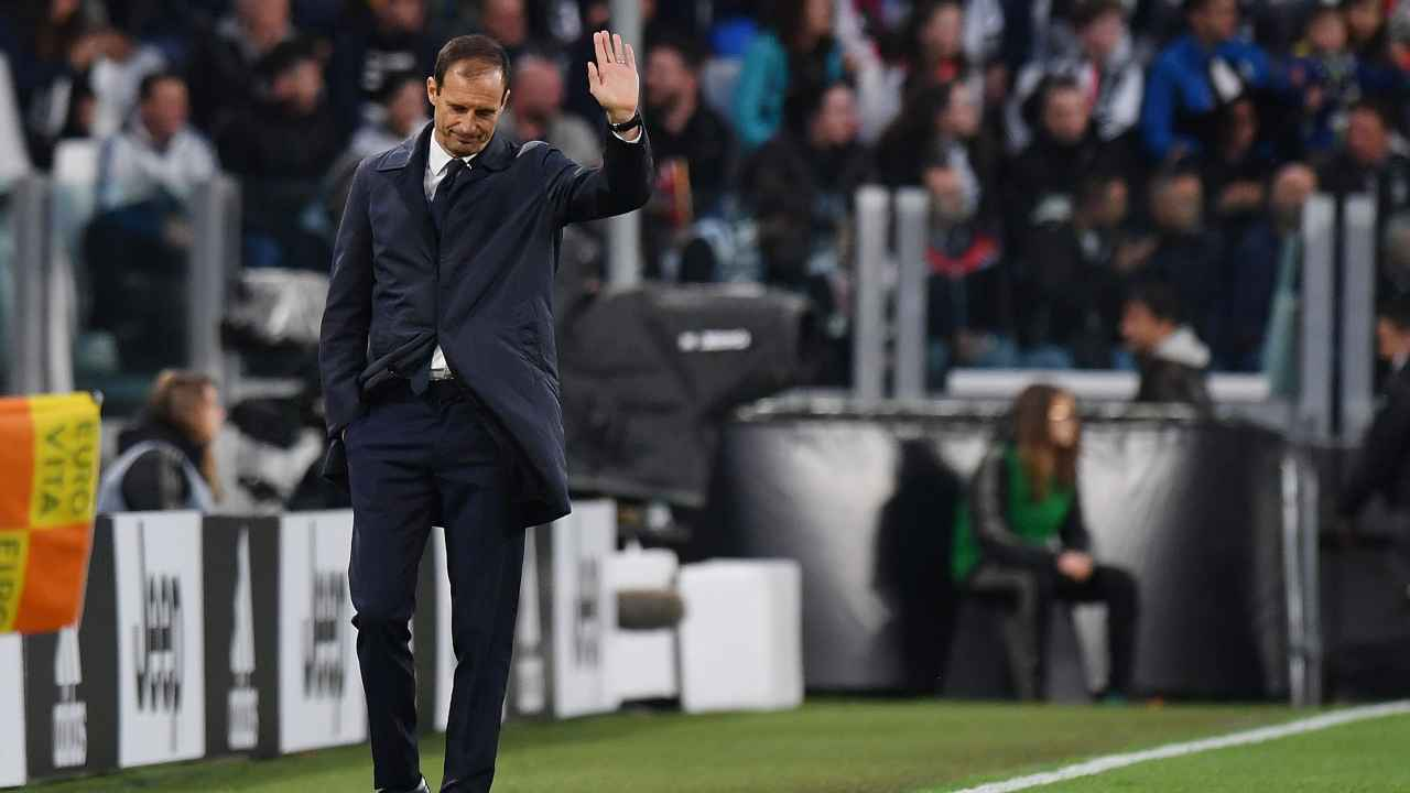 Calciomercato Juventus, Massimiliano Allegri in campo