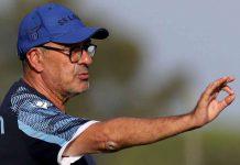 Calciomercato Lazio, Maurizio Sarri Allenamento Lazio nel centro sportivo di Formello a Roma.