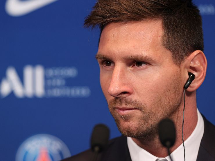 Messi in conferenza - Getty Images