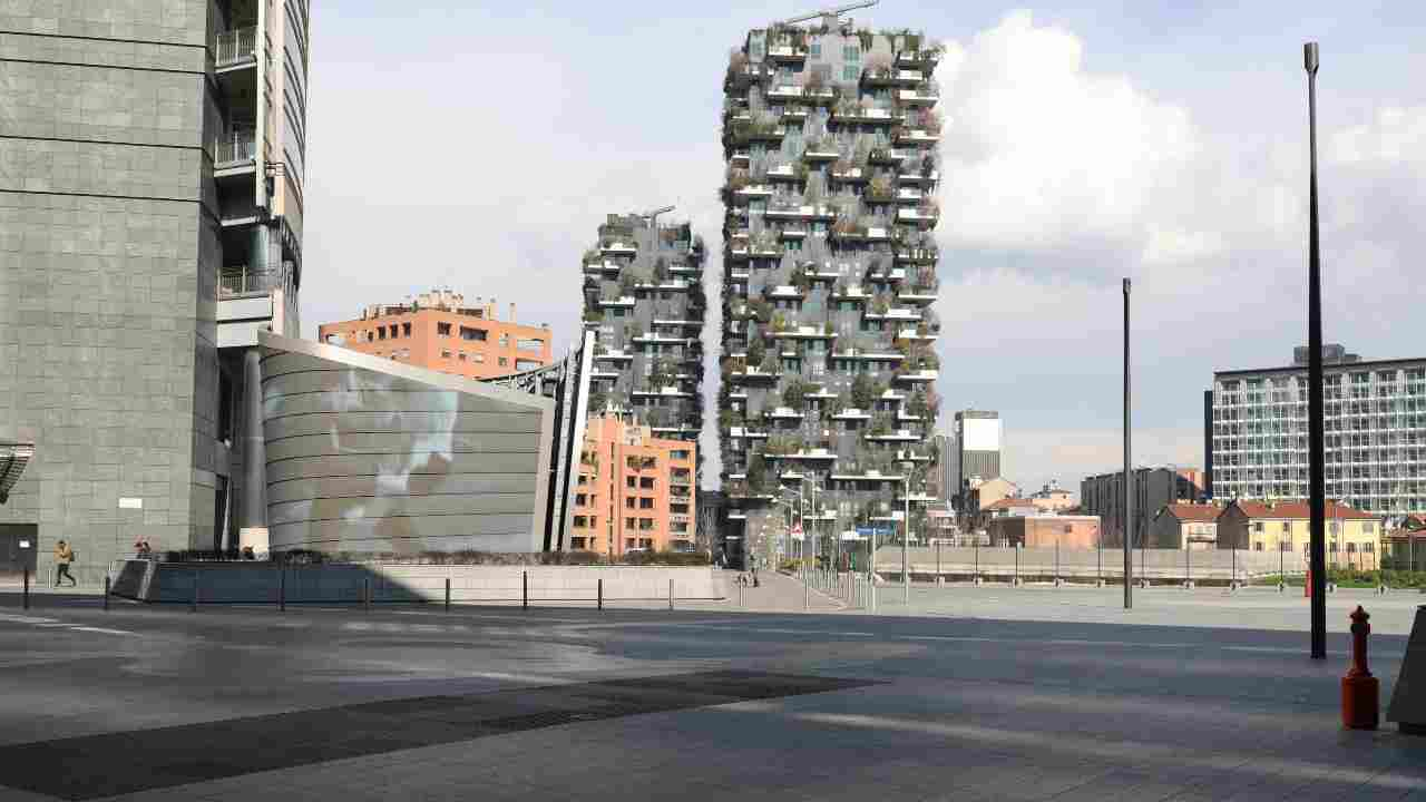 Da Lautaro, foto del Bosco verticale , situato a Milano