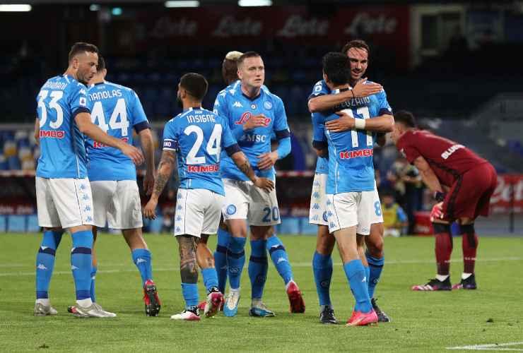 Napoli giocatori in campo