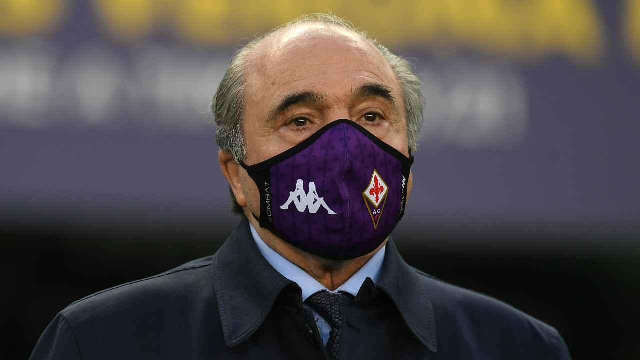 Calciomercato, Rocco Commisso in primo piano con la mascherina
