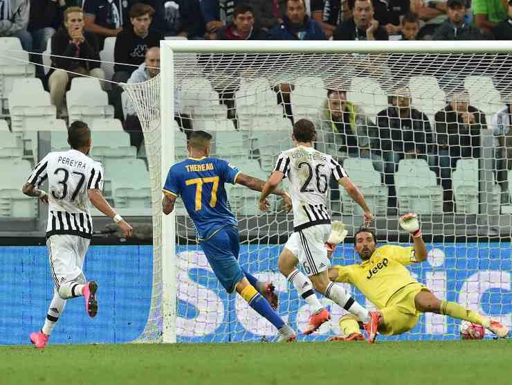 Thereau batte Buffon - Getty Images