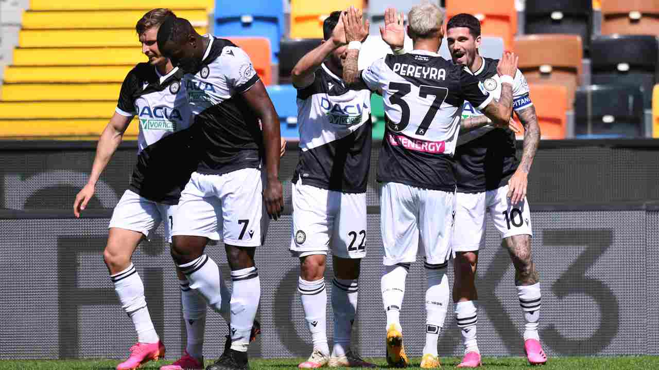 Esulta l'Udinese - Getty Images