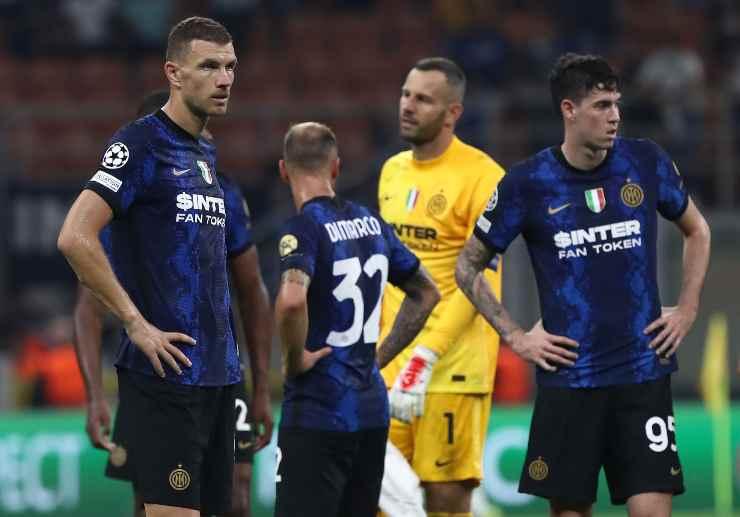 Alcuni giocatori dell'Inter in campo