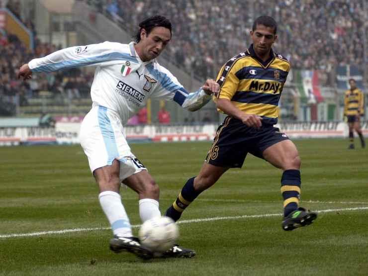 Alessandro Nesta in campo con la Lazio