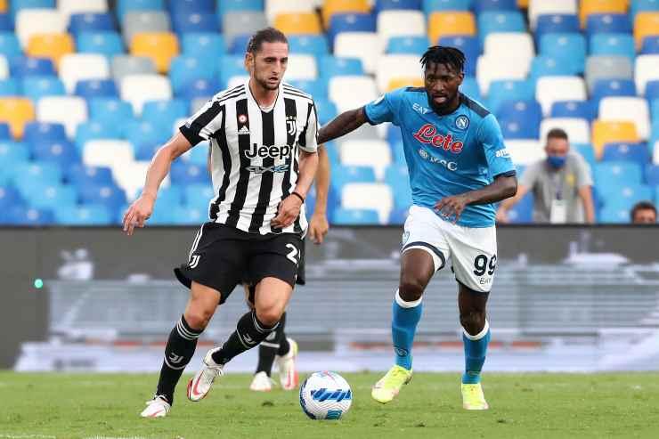 Andre-Frank Zambo Anguissa in campo con il Napoli