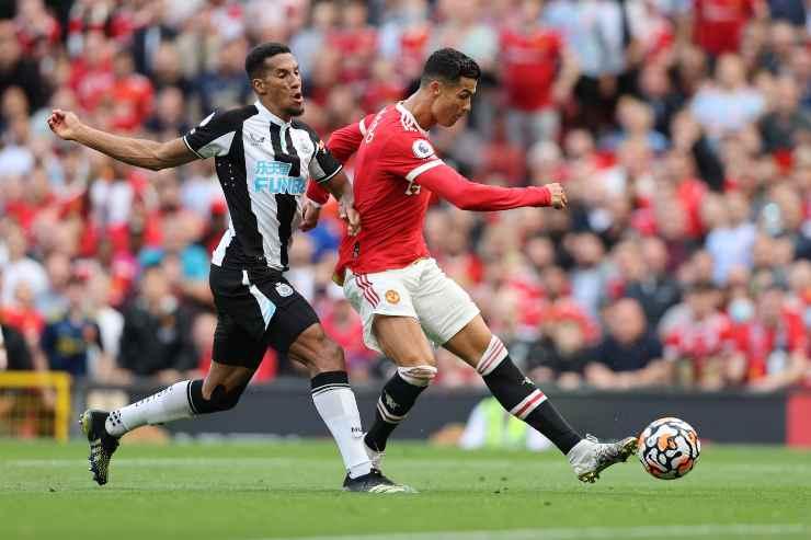 Cristiano Ronaldo nella partita contro il Newcastle