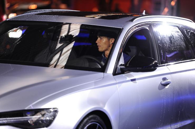 Cristiano Ronaldo in auto