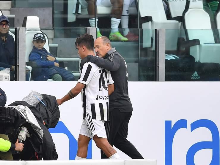 Dybala esce dal campo infortunato