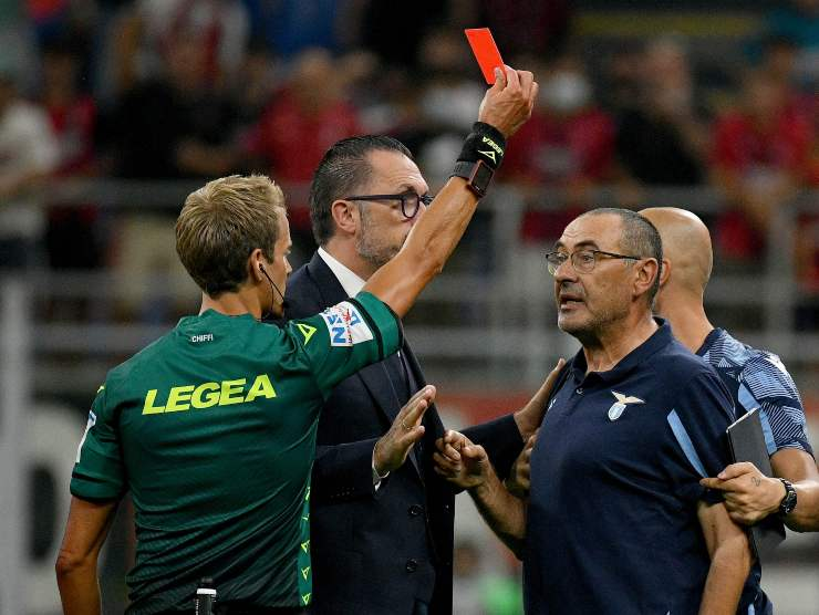 Espulsione Sarri Lazio