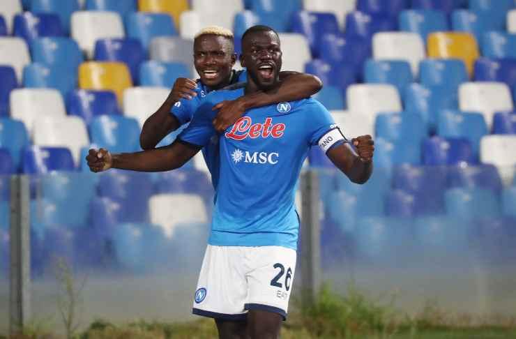 Kalidou Koulibaly mentre esulta