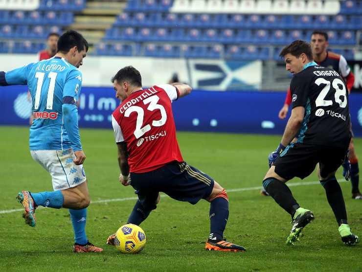 Lozano a Cagliari - Getty Images