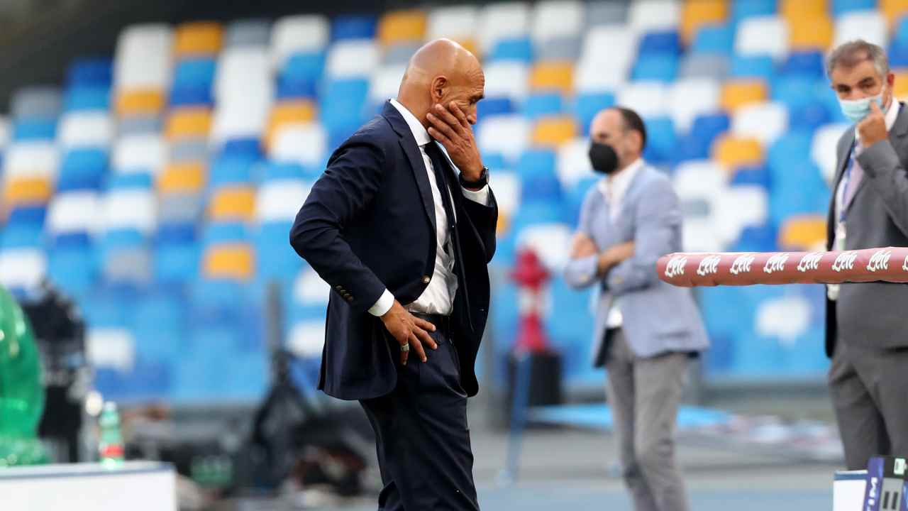 Napoli, Luciano Spalletti mentre cammina