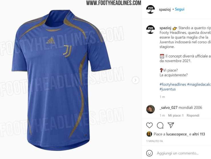 Maglia Juventus azzurra