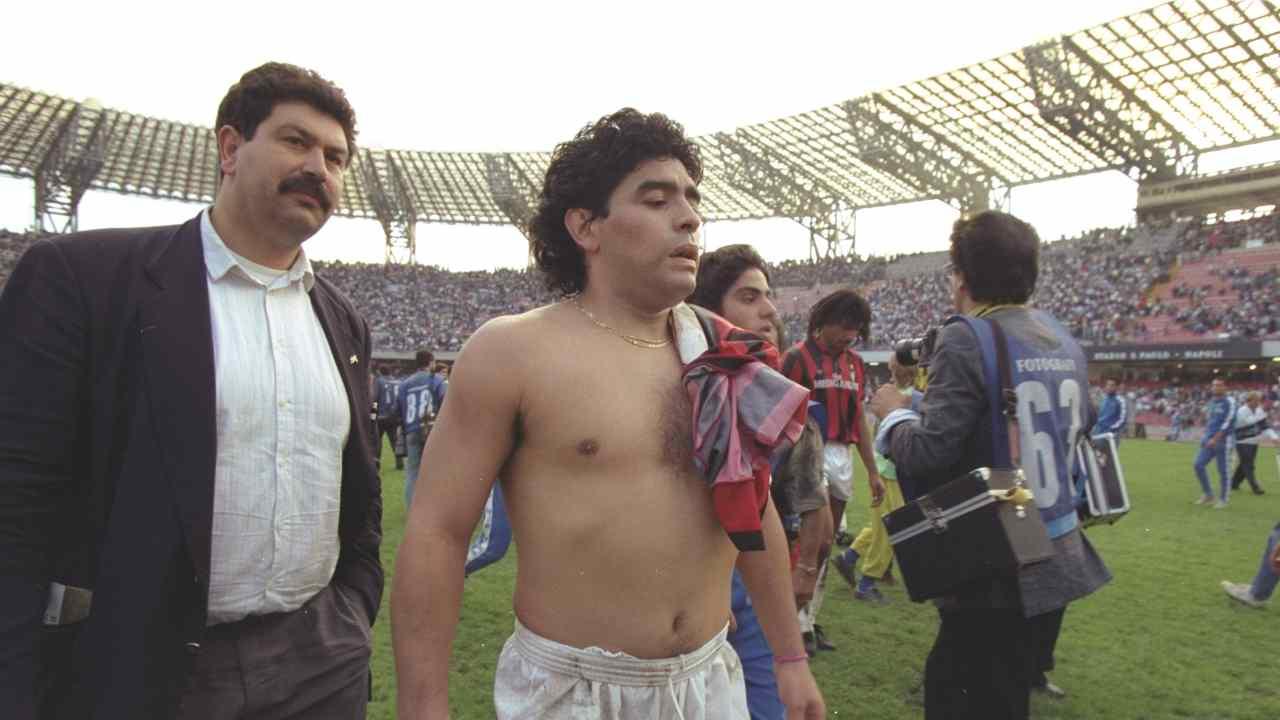 Maradona al San Paolo - Getty Images