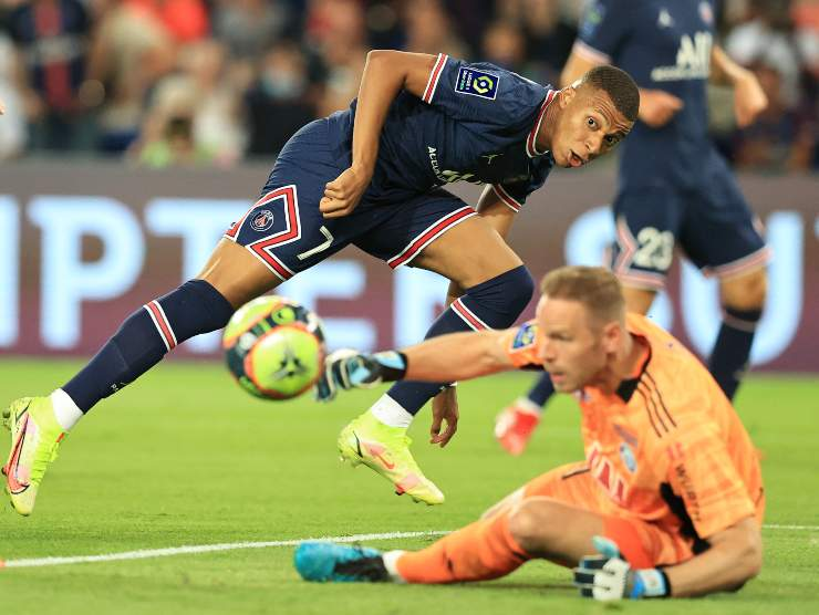 Mbappe in gol - Getty Images