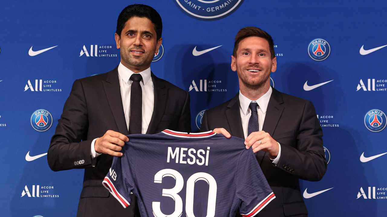 Messi con presidente - Getty Images