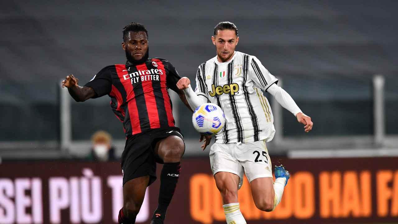 Milan vs Juventus in campo