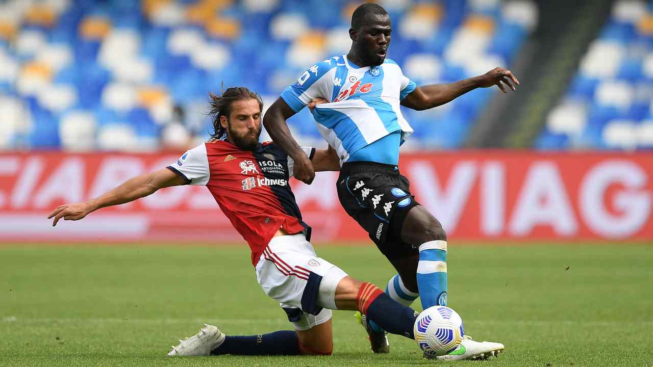 Koulibaly e Pavoletti - Getty Images