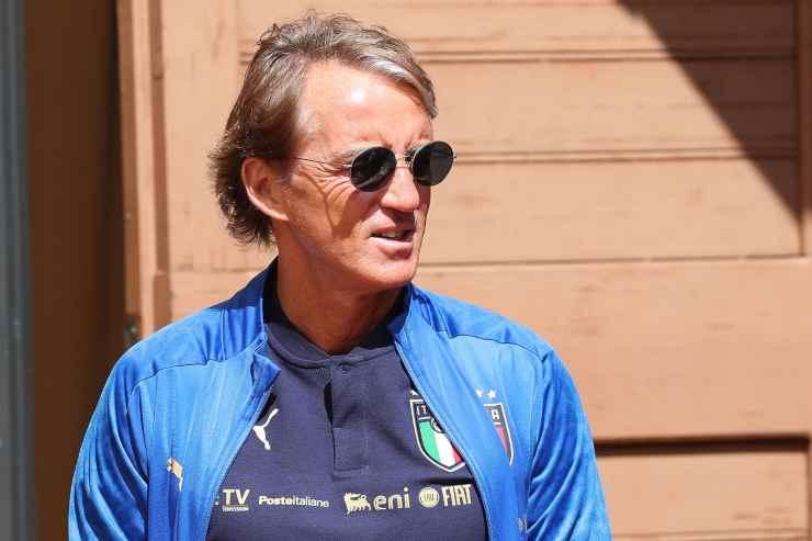 Roberto Mancini in primo piano