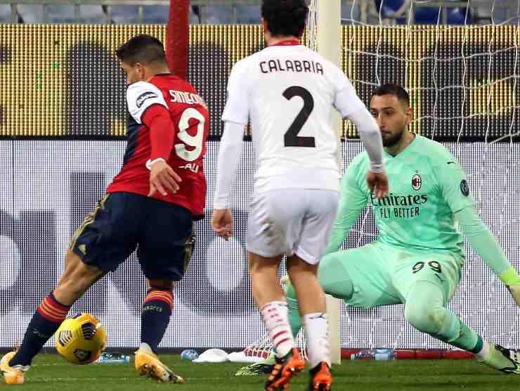 Simeone contro Milan - Getty Images