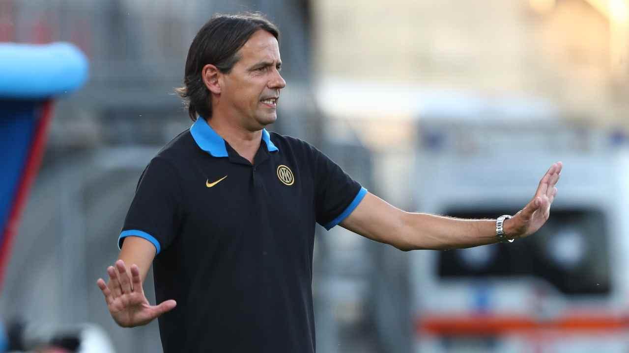 Inter, Simone Inzaghi con la maglia dell'Inter