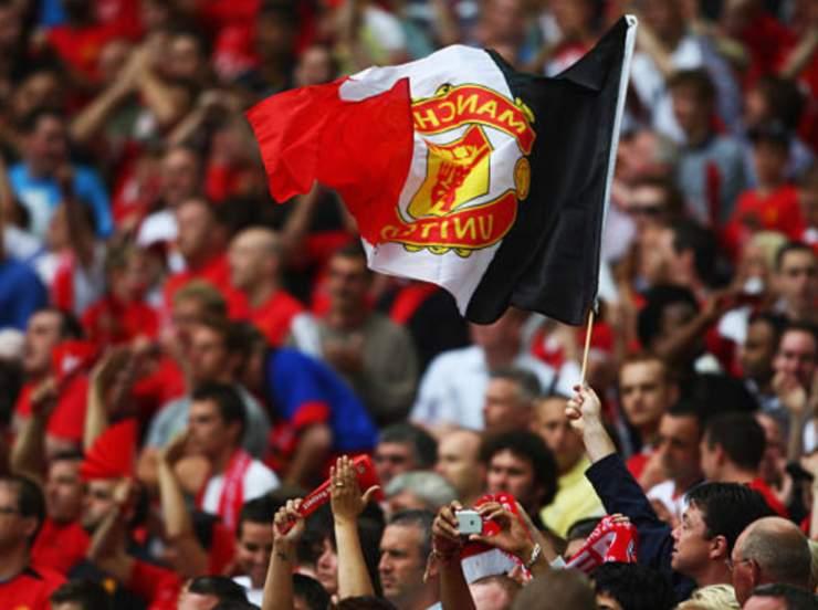 Tifosi del Manchester United allo stadio