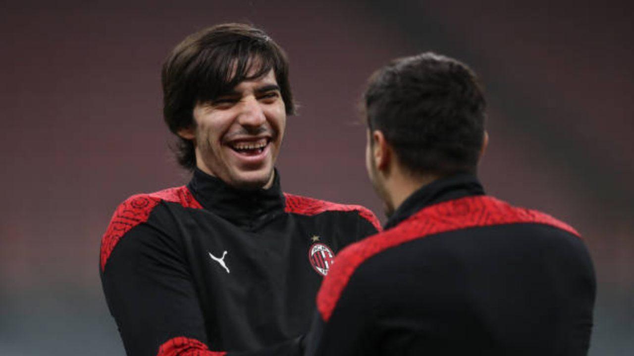 Tonali e Brahim Diaz, compagni di squadra al Milan
