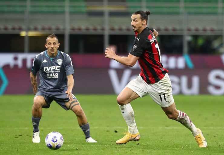 Zlatan Ibrahimović in campo