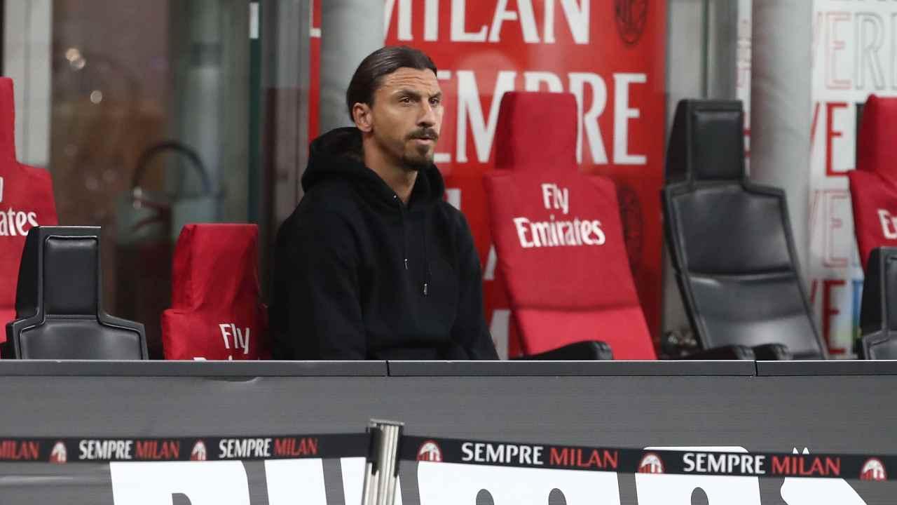 Milan, Zlatan Ibrahimović in tribuna