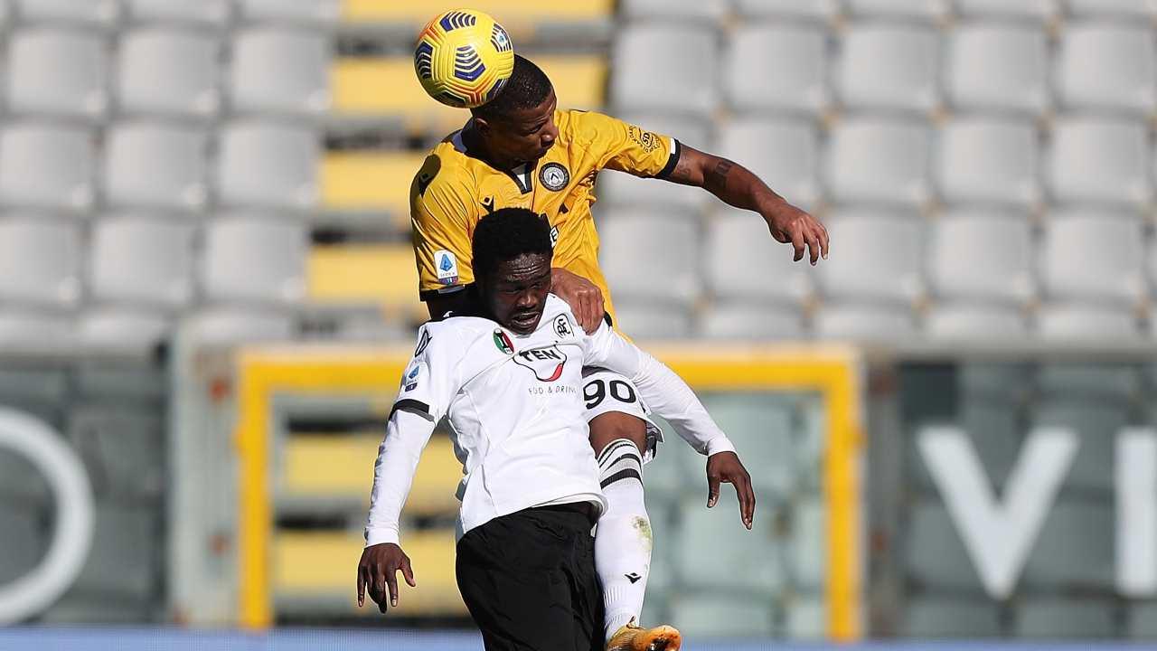 Contrasto Spezia-Udinese - Getty Images