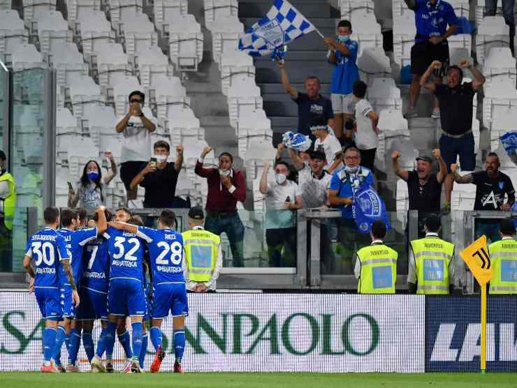 Empoli esulta a Torino - Getty Images