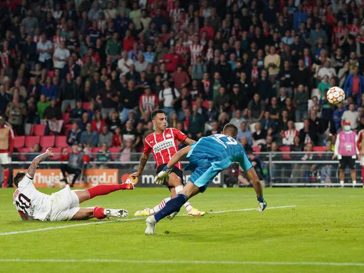 Psv in gol contro Benfica - Getty Images