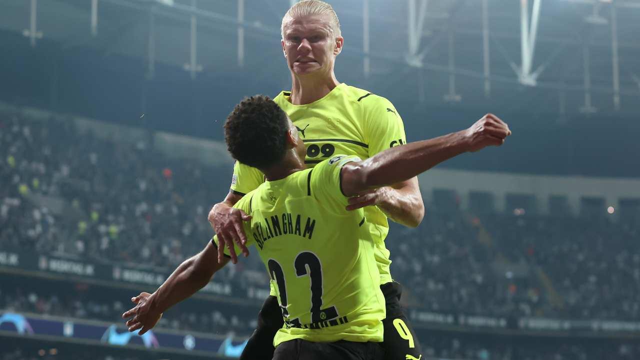 Bellingham Haaland gol Champions