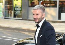 David Beckham smoking